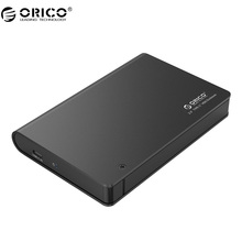 ORICO 2598C3 2.5 Tool Free Hard Drive Enclosure with SATA Interface and USB Type A to Type C Data Cable for HDD / SDD-Black