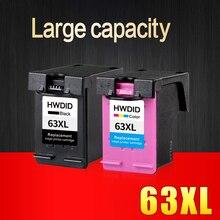 2 paket tintenpatrone für hp 63xl schwarz tricolor verwendet für deskjet 3630 3632 officejet 4652 4655 envy 4522 drucker