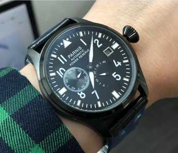 47 mm PARNIS big pilot Automatic Self-Wind movement leather strap men watches high-quality pvd Mechanical Wristwatches - DISCOUNT ITEM  28% OFF Watches