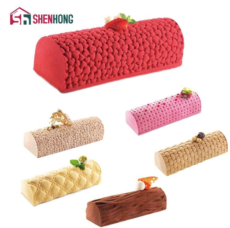 SHENHONG Pop Silicone Mousse Pad Mould Cake Mold Jelly Pudding Moule Baking Tools DIY De ...