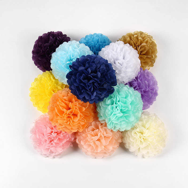 1 個 4 '-12' ティッシュ紙の花ボール結婚式 Diy ペーパークラフトポンポンボールベビーシャワーの誕生日パーティーの装飾用品