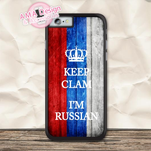Keep Calm I Am Russian Protective Case For iPhone X 8 7 6 6s Plus 5 5s SE 5c 4 4s For iPod Touch