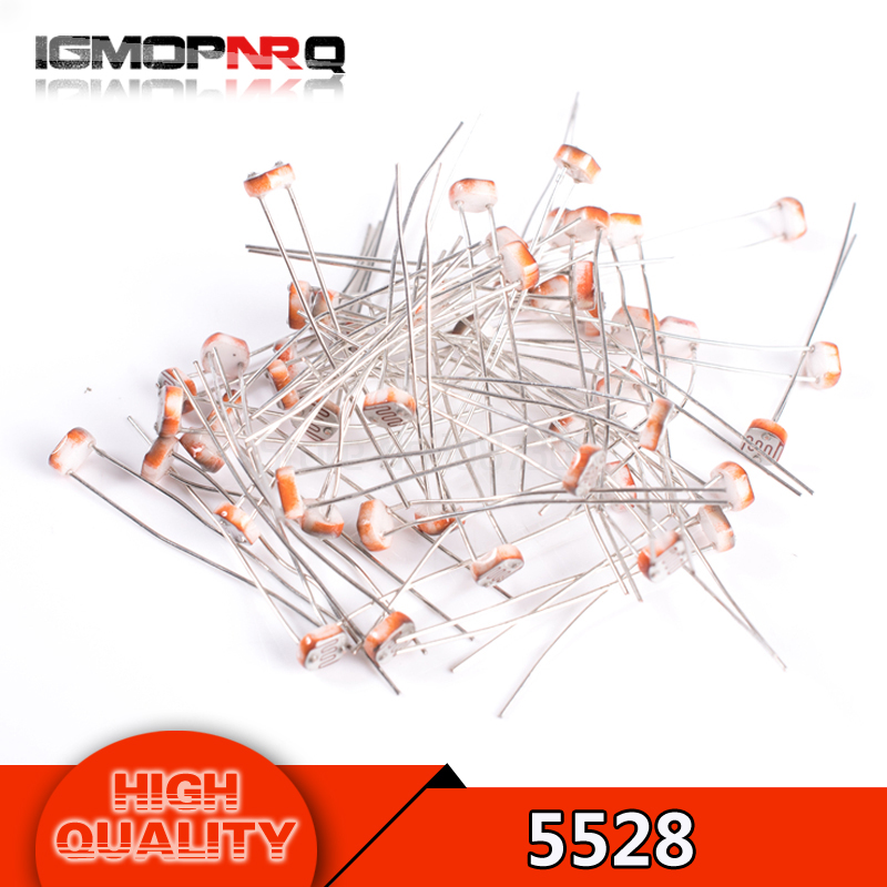100PCS Photo Light Sensitive Resistor Photoresistor Optoresistor 5mm GL5528