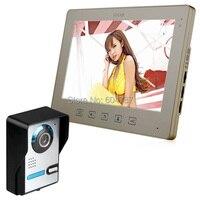 10 видео телефон двери TFT ЖК дисплей touch ключ Домофон проводной домофона с CCTV Камера и Мониторы с Ночное видение