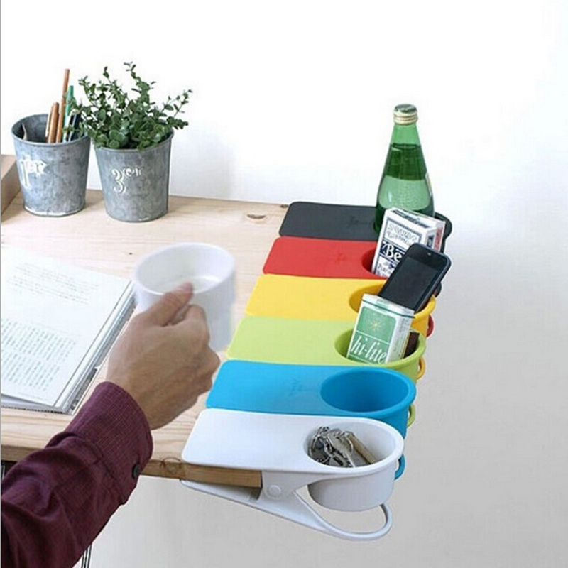 Awesome Creative Drink Cup Coffee Glass Holder Stand Clip Desk Table Home Office  Use Desk Cup Holder High Quality ,Free Shipping. In Storage Trays From Home  ...