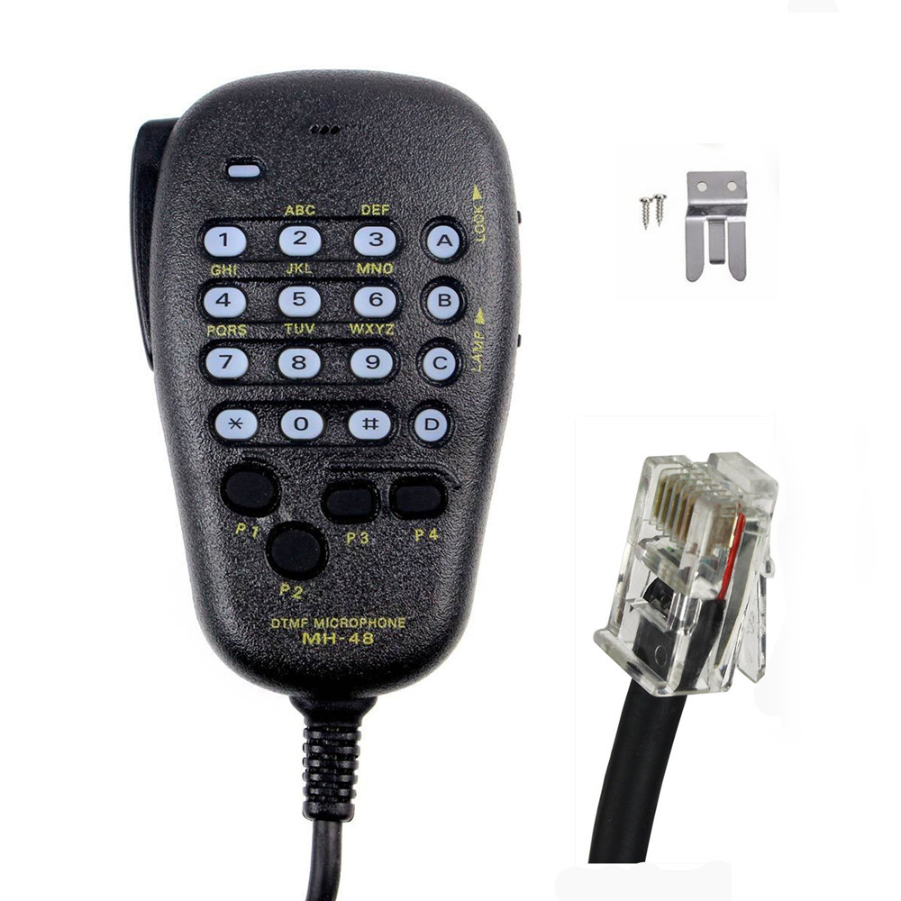 YAESU MH-48 MH-48A6J DTMF Speaker Microphone for FT-8800R FT-8900R FT-7900R FT-1807 FT-7800R FT-2900R FT-1900R FT-1500M FT-8500M