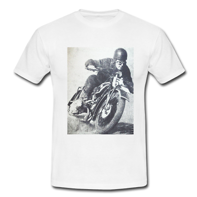 SHORT SLEEVE BIKE WEAR TEE VINTAGE MOTORCYCLE MENS T SHIRT WITH CAFE RACER