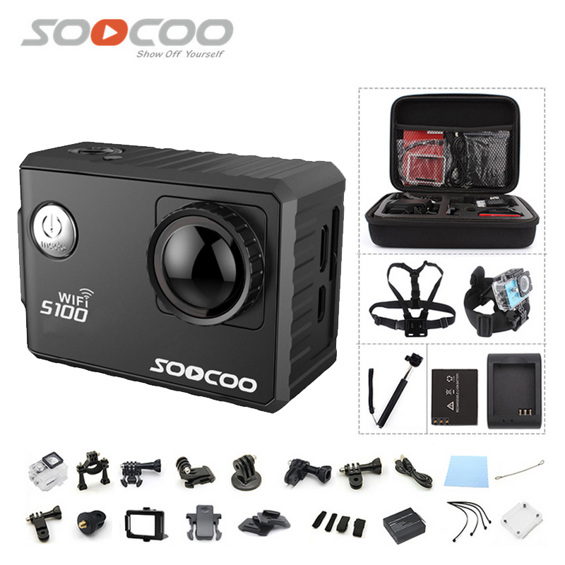 Original SOOCOO S100 4K Wifi NTK96660 30M Waterproof Action Sports Camera Built in Gyro with GPS