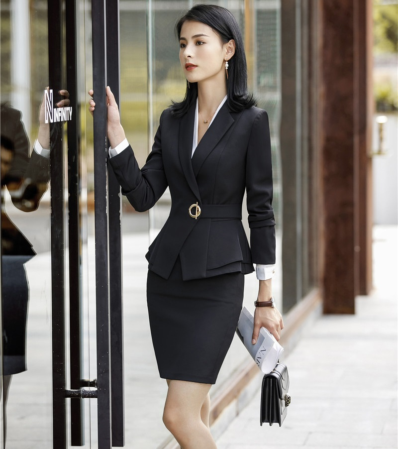 9ba78b2806a2d Ladies Office Uniform Designs Business Suits With Skirt and Tops Autumn  Winter Fashion Wine Formal Work Wear Sets Blazer | Always the latest  fashion ...