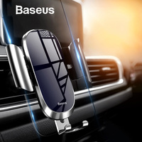 Baseus Car Phone Holder for iPhone Samsung Mobile Phone Holder Stand Metal Gravity Air Vent Mount GPS Cell Phone Holder in Car [category]