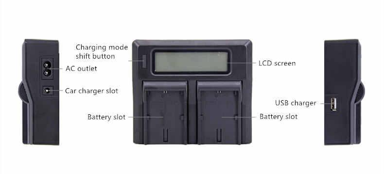 2X NP-FV100 NP FV100 FV70 FV50 Battery + LCD Dual USB Charger untuk Sony DCR-SR15 SR21 SR68 SX21 SX44 SX45 SX63 SX65 HDR-CX105 CX110