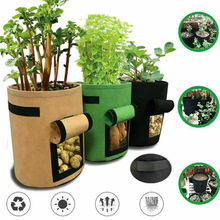 7 Gallon Fabric Pot Plant Pouch Root Container Tomatoes Potatoes Grow Bags Tools Garden Pots Planters Supplies