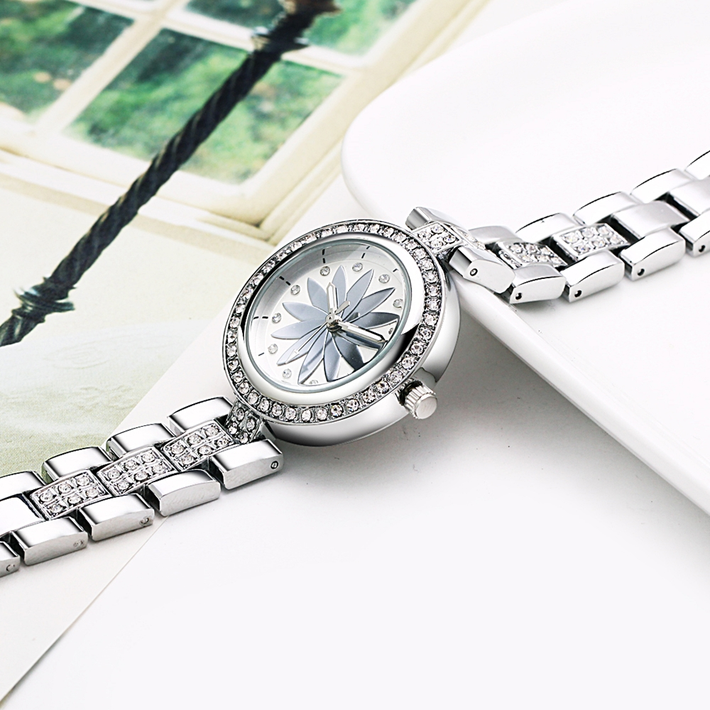 New arrival Elegant Wrist Watches for Women Luxury Quartz Crystal Dial Alloy Bracelet Wholesale price free drop shipping 6