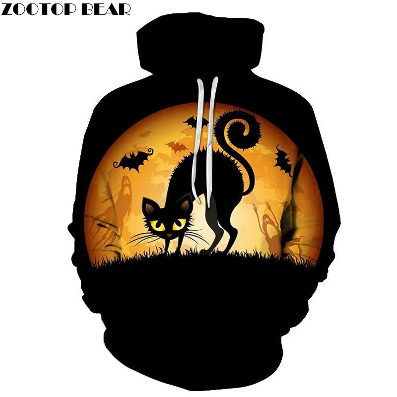 Halloween Cute Cat 3D Print Hoodie Men Women Sweatshirt Hooded Tracksuit Fashion Pullover Hoody Streetwear Spring Coat Dropship