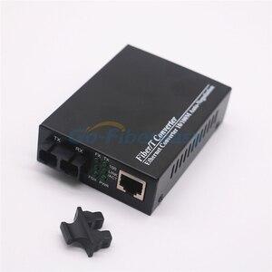 Image 2 - 10/100Mbps الألياف محول وسائط بصرية المتعدد ألياف مزدوجة Wavelenth 850nm 2 كجم RJ45 إلى SC موصل