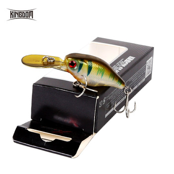 цена на Kingdom Fishing lures Hard mini Minnow Crankbaits Small Cranks Baits sinking Lure 5cm 5g Wobblers with VMC Hooks Fishing Tackle