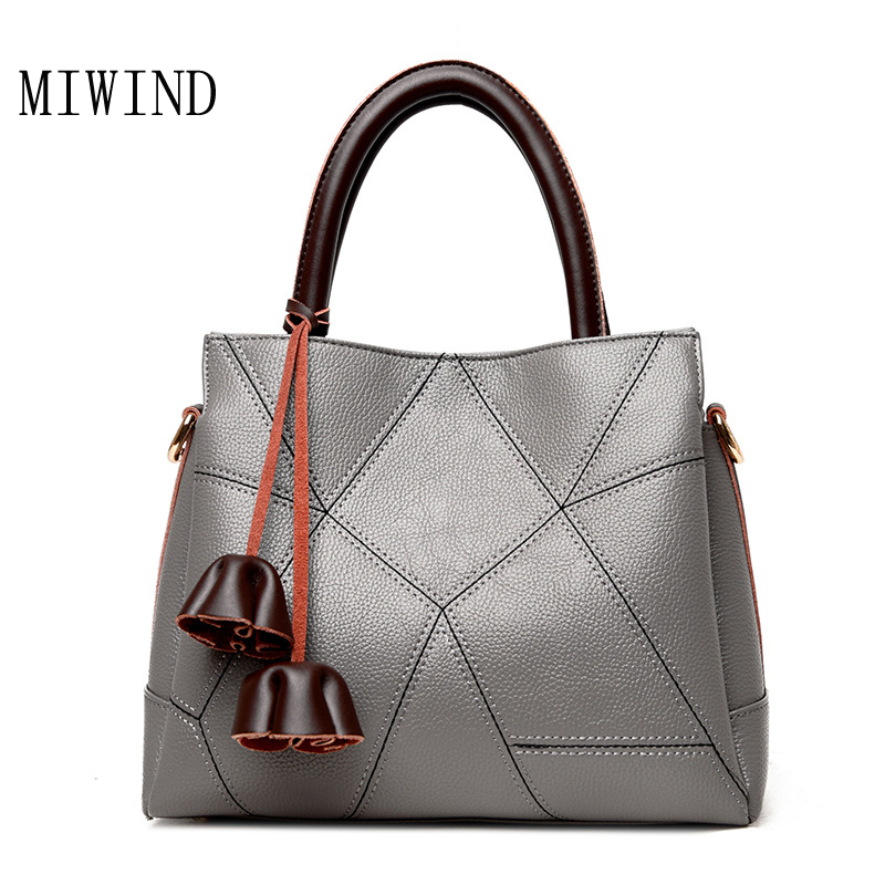 New fashion Women Leather Shoulder bag Large Capacity Zipper Handbag Female Bags Lady Totes luxury Ladies Handbags Bolsas TDH174 newest luxury brand women bag fashion design cowhide leather handbag lady totes sequined original shoulder bag