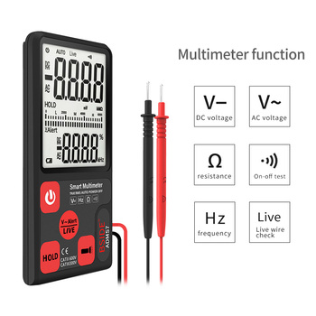 Ultra-Portable Digital Multimeter BSIDE ADMS7 צג LCD בגודל 3.5 אינץ 'תלת-ממדי רחב מתח AC DC מתח NCV התנגדות Ohm Hz Tester