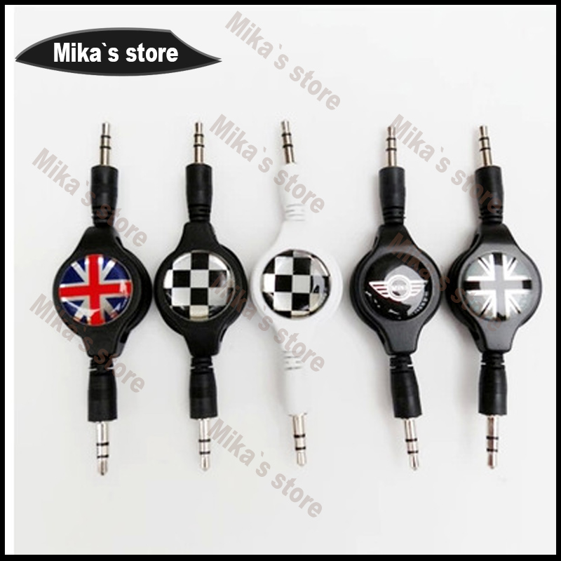 car styling 3.5mm car audio cable AUX audio line 80cm for MINI Cooper One S R56 R60 F56 F55 clubman countryman car-styling sun protection cool hat car logo for mini cooper s r53 r56 r60 f55 f56 r55 f60 clubman countryman roadster paceman car styling