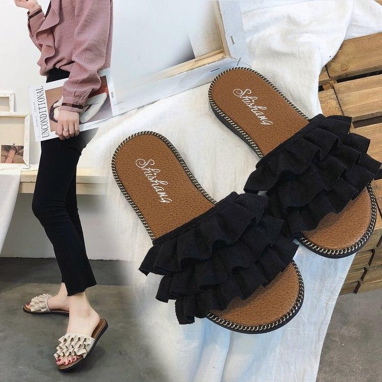 Бренд 2018 г. новые женские тапочки обувь повседневная женская обувь удобные весна/осень/лето Для женщин Тапочки обувь