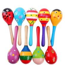 5 шт./лот детские игрушки, куклы музыкальных инструментов Дерево Погремушки Игрушки для малышей ребенок шейкер игрушка для Детский подарок игрушки шейкер