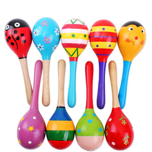 5pcs/lot Baby Toys Dolls Musical Instruments Wood Rattles Toys For Babies Child Baby Shaker Toy For Children Gift Toys Shaker