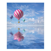 RIHE Balloon Flying Painting By Numbers Ocean Oil On Canvas Hand Painted Cuadros Decoracion Acrylic Paint Wall Poster