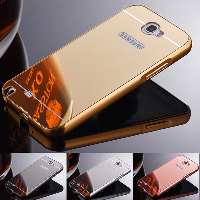 Luxury Aluminum Frame Metal Case For Samsung Note 2 II Mirror Acrylic Back Cover For Samsung Galaxy Note 2 GT-N7100 N7100 N7105