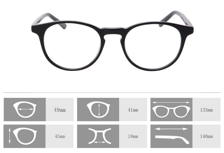 43064623e1 Top Fashion Women Eyeglasses Retro Vintage Round Rimmed Acetate ...