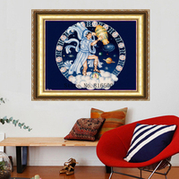 DIY 3d Diamond Painting Stitch Lovely Rushed Hot Sale Series Works Of Art Diamonds Cross Aquarius