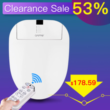 GAPPO 220-230V Smart Toilet Seats Intelligent Bidet Cover Remote Control Instant Hot Seat Heating Led Light Dual Washing