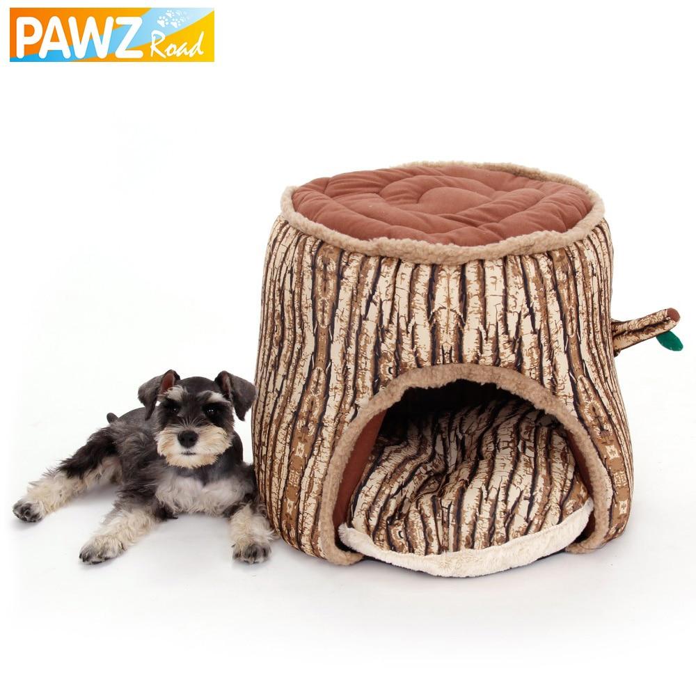 Szuper puha kutya ágy kisállat kennel fa stump design kutya ház - Pet termékek