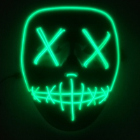 Ghosts dance mask, LED flash ghosts, Adult Halloween Jakes, terrifying blood, terror