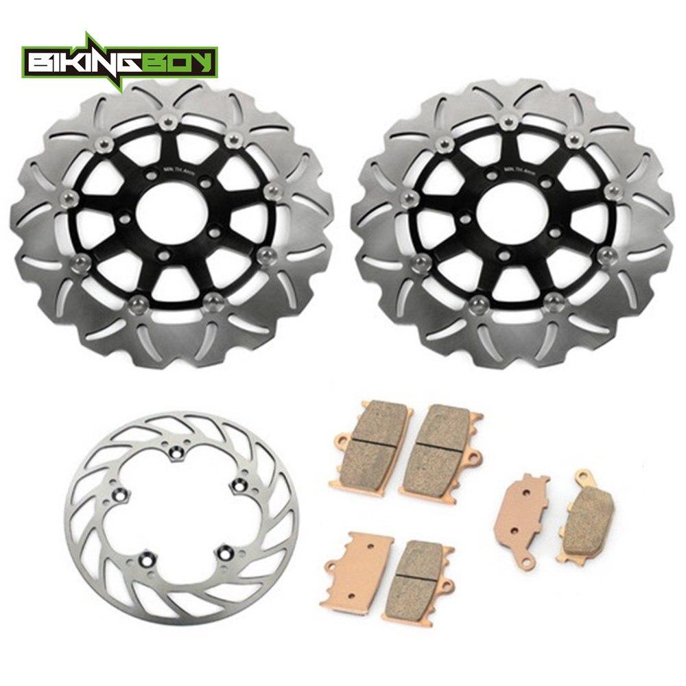 BIKINGBOY New Front Brake Discs Rotors + Brake Pads for