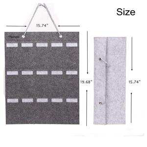 Image 2 - Portable Sunglasses Storage Bag Soft Cloth Hanging Bag Womens Mens Sunglasses Organizer Wall Decoration