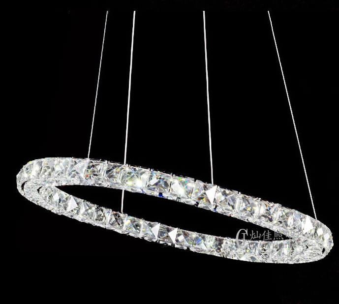 100CM Hot sale Diamond Ring LED Crystal Chandelier Light Modern Lamp 1 Circles 100% Guarantee  DIY Style Position Diamond Ring hot sale diamond ring led crystal chandelier light modern pendant lamp 100