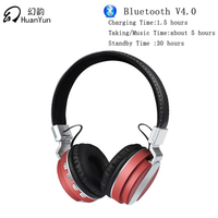 Huan Yun Earphone Headphones Bluetooth Wireless Headset Stereo Bass With Mic SD Card Slot Foldable For