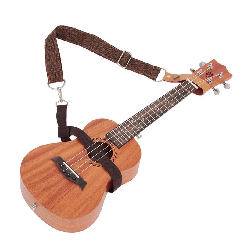 ABGZ-Longteam New Hawaii Small Guitar Ukulele Strap 4 Strings Tail Nail Free Messenger Ukulele Straps Musical Instrument Acces