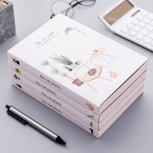 """Image 1 - """"القط النبات كراسة الرسم"""" حجم كبير الرسم المفكرة Kawaii لطيف دفتر يوميات دفتر القرطاسية هدية"""