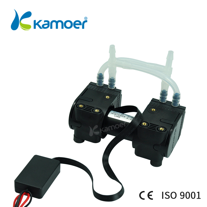 Kamoer 12V/24V KVP15mini diaphragm vacuum pump micro air pump brushless motor with double head kamoer kvp8 24v mini vacuum pump brushless micro diaphragm pump electric air pump with high nagative pressure vacuum degree