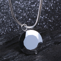 Free Laser Customer Name Picture Classic Tungsten Carbide Power Pendants For Men Free Steel Necklace Gift