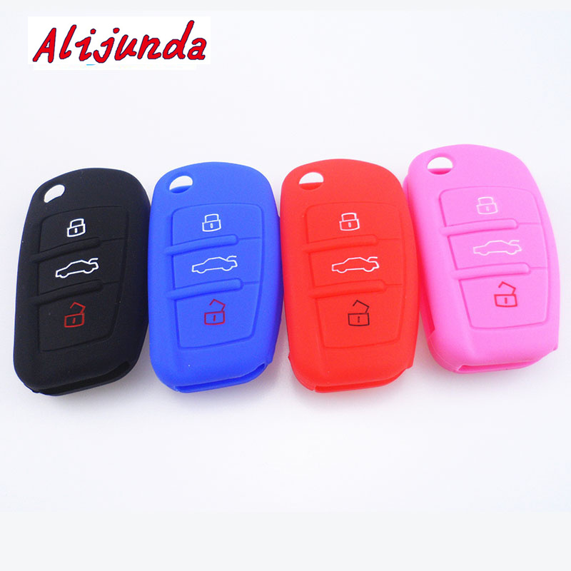 Silicone Car Key Cover For Audi/ A1 A3 A4 A5 A6 A7 A8 Q5