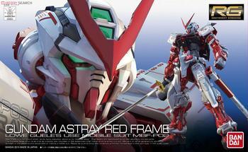 Bandai Gundam 00634 RG 1/144 Astray Red Mobile Suit Assemble Model Kits Action Figures Plastic Model toys 1