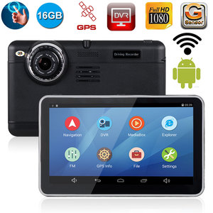 XGODY 7 inch Android 4.4 GPS Navigation With DVR Mirror Rearview Camera Car DVRs Video Recorder Dash Cam Wifi 2018 EU/AU Map