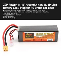 ZOP Power 11.1V 7000mAh 45C 3S 1P Lipo Battery XT60 Plug Rechargeable for RC Racing Drone Quadcopter Helicopter Car Boat Model