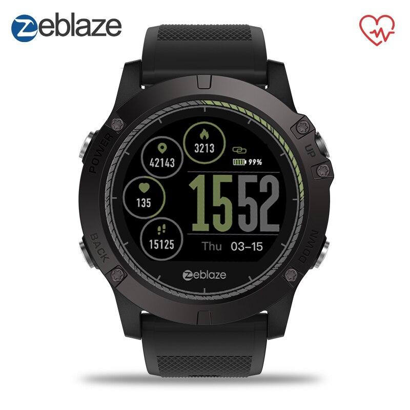 Zeblaze VIBE 3 HR del deporte Bluetooth reloj inteligente Monitor de ritmo cardíaco podómetro reloj inteligente reloj de pulsera Digital de los hombres para IOS Android