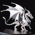 3D нержавеющей стали металлические ремесла творческие украшения интерьера украшения модель головоломка дракона взрослый коллекционирования подарок к празднику