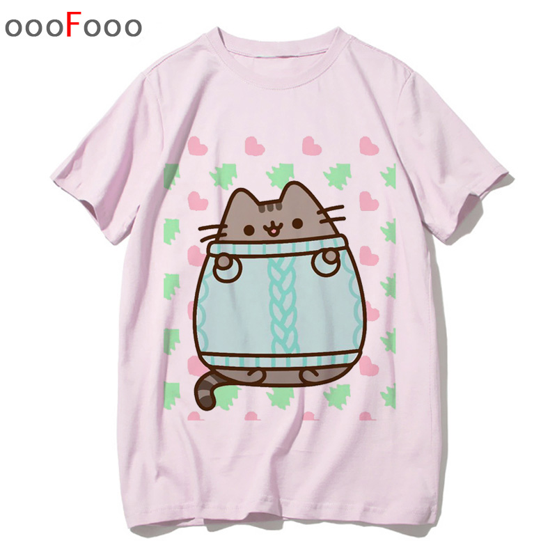 Social MUSH T-Shirt Pusheen The Cat Kawaii 100/% Cotone Organico