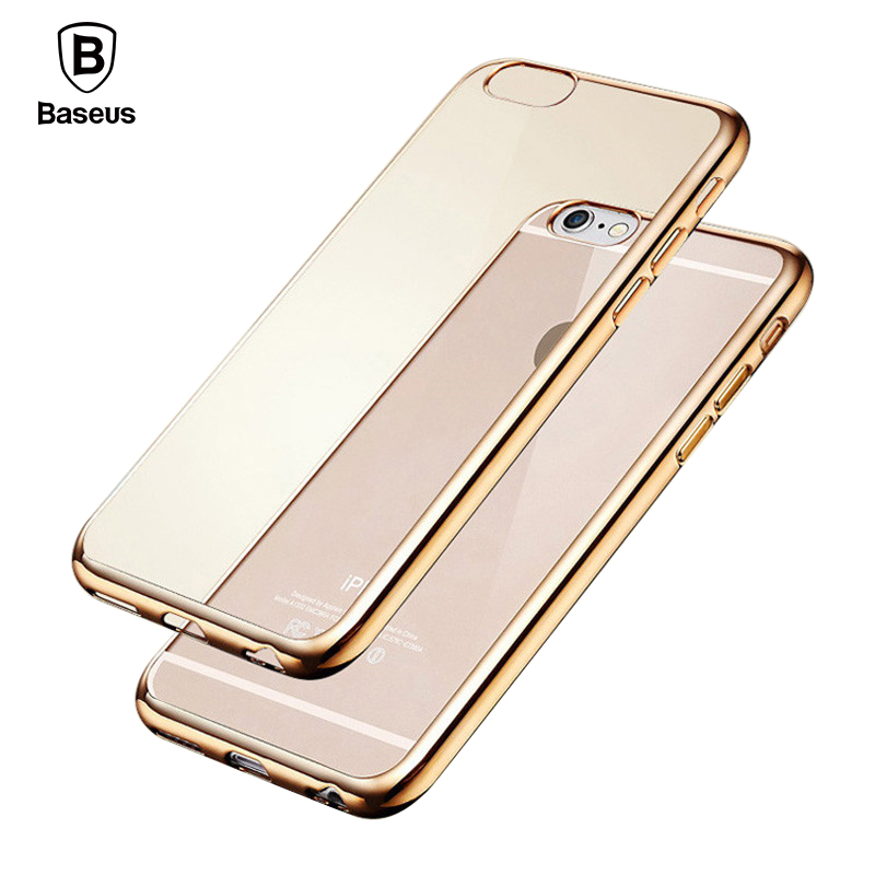 Baseus TPU Case For IPhone 6 6S 6 Plus 6S Plus Shining Ultra Thin Electroplating Anti