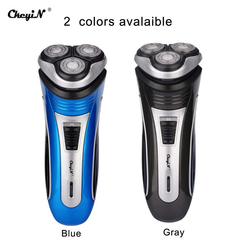 100-240V Rechargeable Electric Shaver 3D Triple Floating Blade Heads Shaving Razors Face Care Men Beard Trimmer Machine Washable